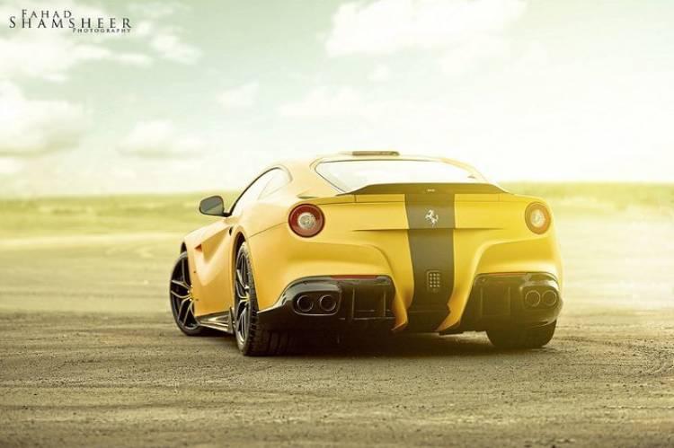 DMC Ferrari F12 SPIA Middle East Edition, oro del desierto