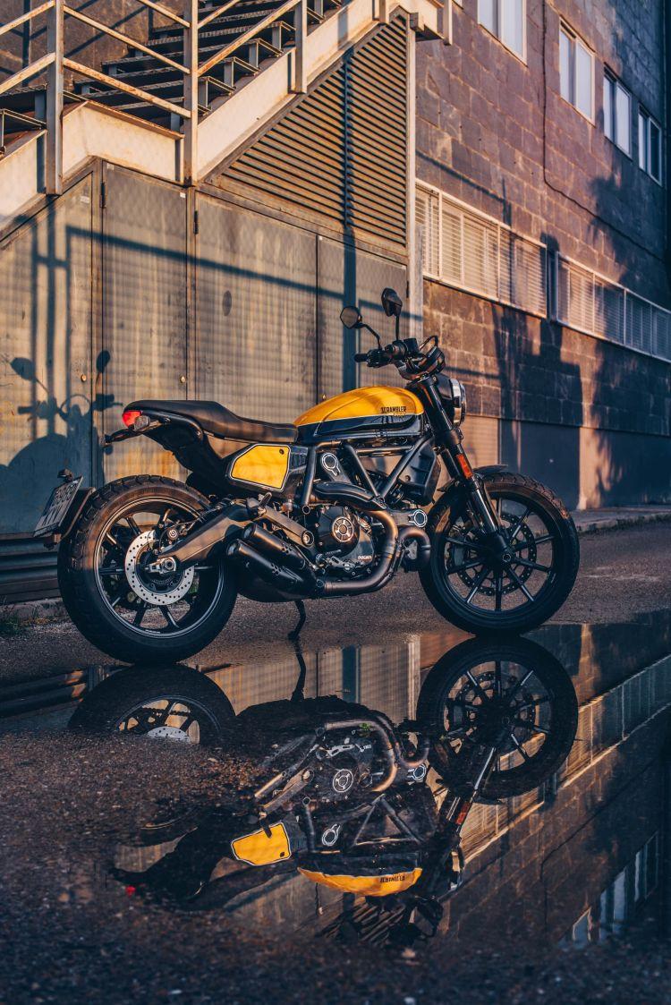 Ducati Scrambler Cuarentena Lluvia 1