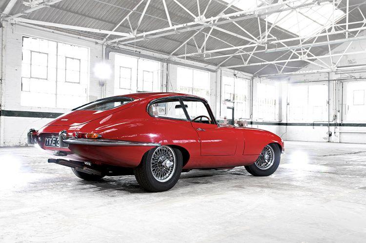 Estetica Automovil Jaguar E Type Rojo