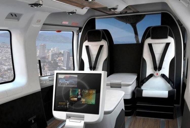 Un Eurocopter con un interior personalizado por Mercedes-Benz Style