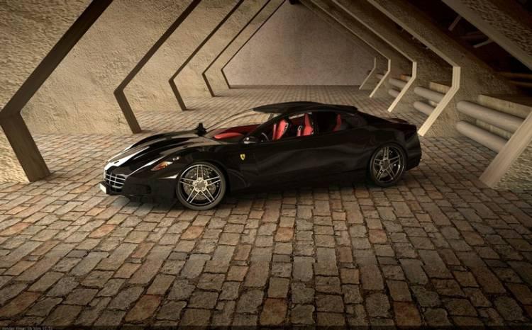 Render de un posible coupé de cuatro puertas de Ferrari