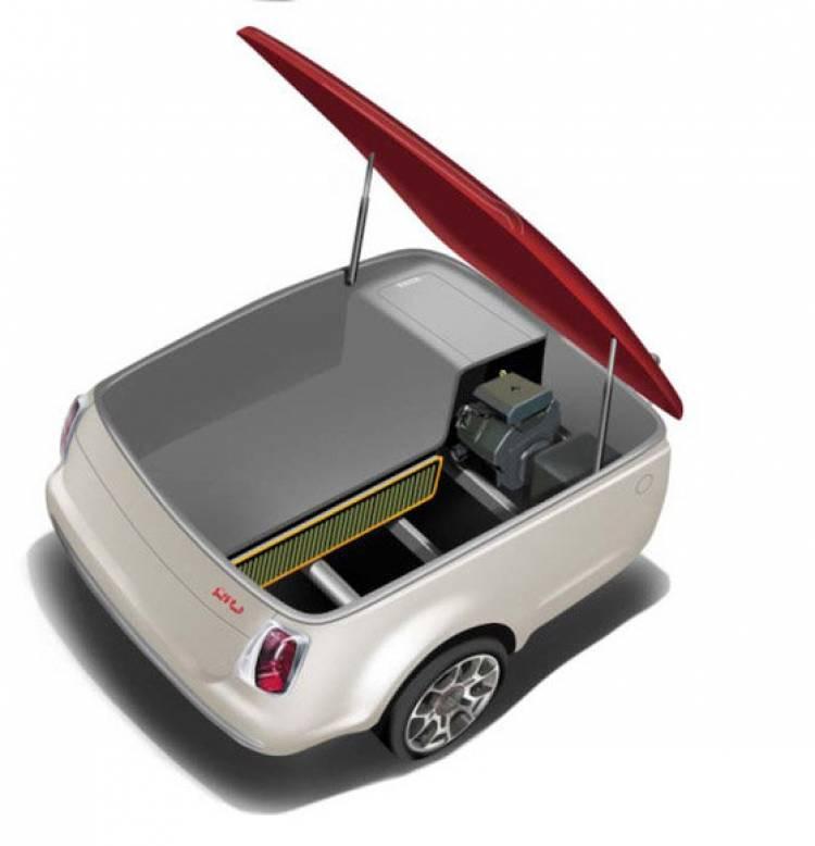 Fiat 500 con remolque