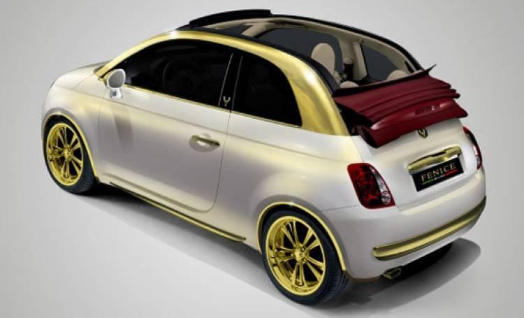 Fiat 500C de Fenice Milano con inserciones de oro puro