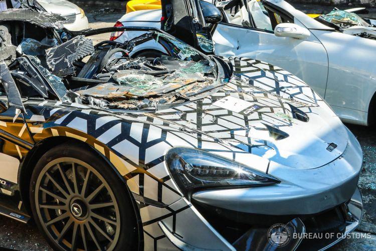 Philippines Destroy 21 Luxury Cars 11
