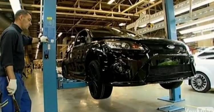 Ford Focus RS500 en la fábrica