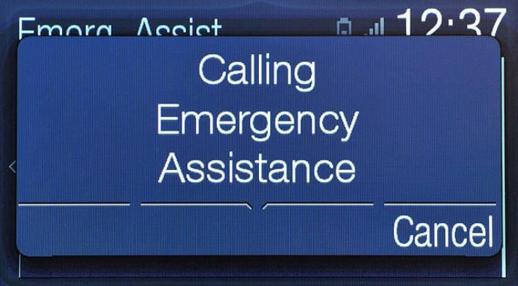 Ford Mustang con llamada de emergencia