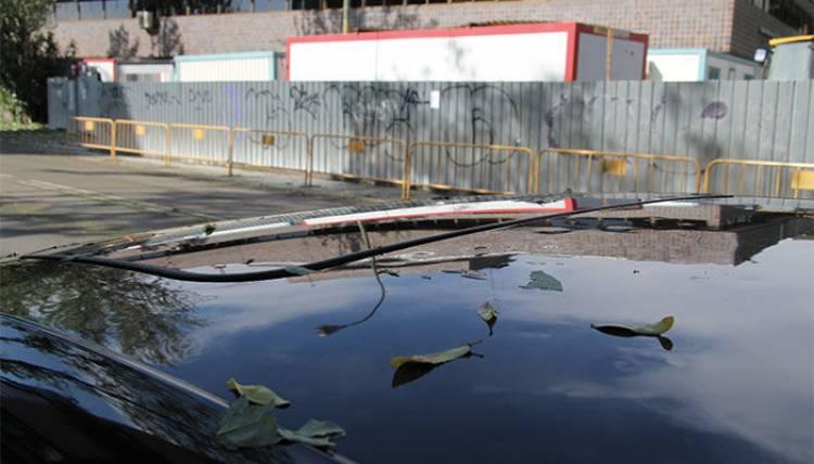 Granizada en Madrid, desperfectos en coches
