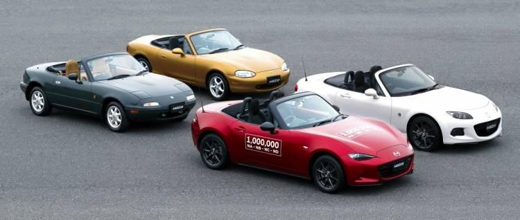 Generaciones Mazda Mx 5 Miata Unidad Millon