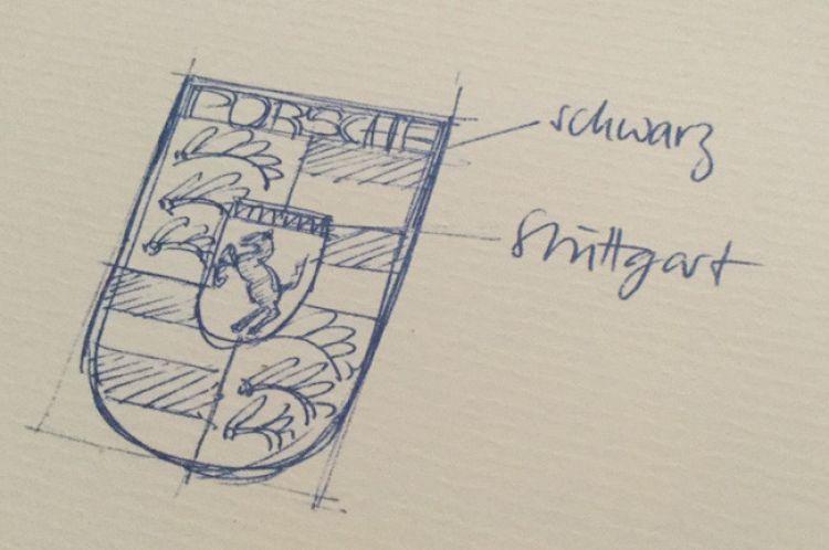 Historia Logo Porsche Boceto