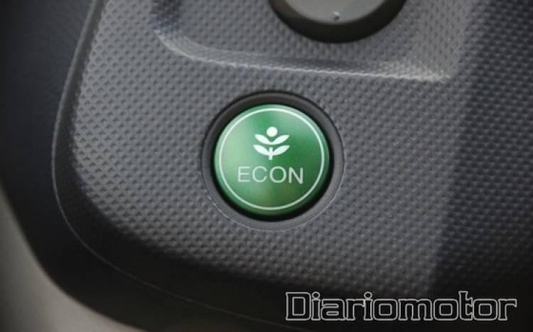 Ecodesafío Honda Insight, botón ECON