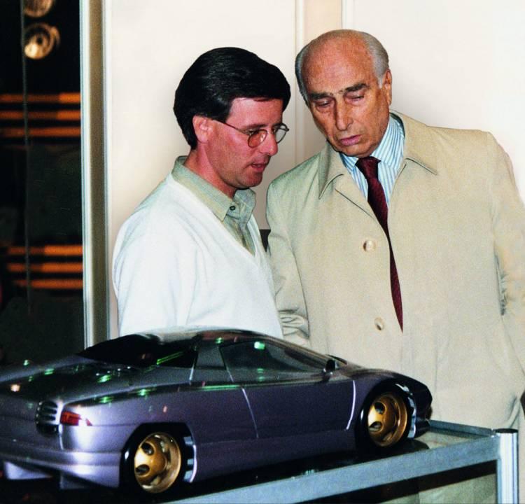 Horacio Pagani y Fangio