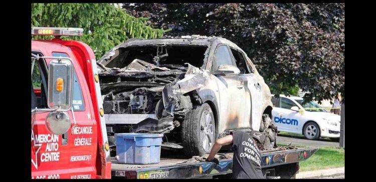 Hyundai Kona Electrico Explosion