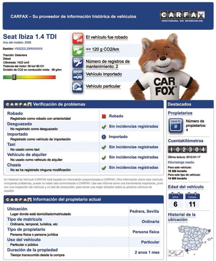 Informe Vehiculo Dgt Carfax
