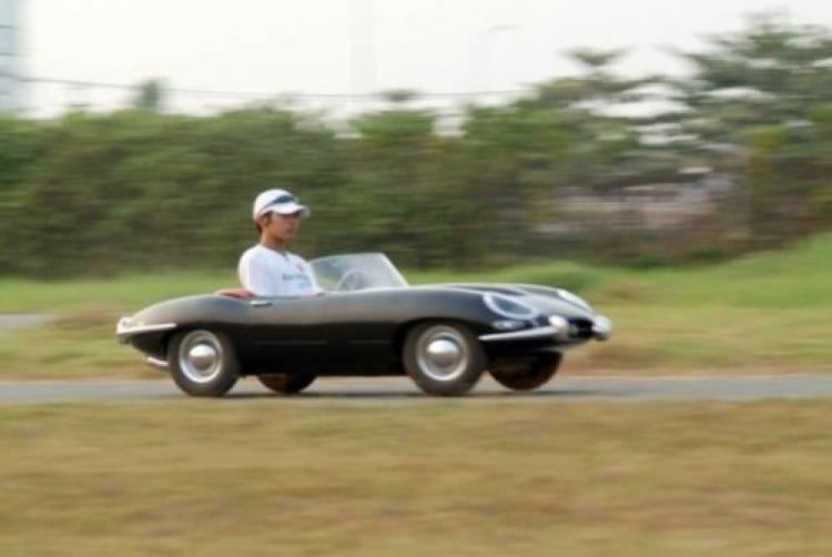 Jaguar E-Type en miniatura