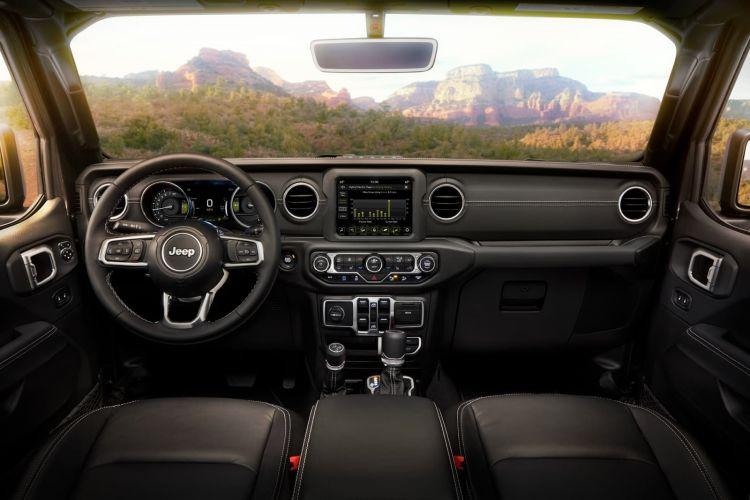 Interior Of The 2021 Jeep® Wrangler Sahara 4xe Includes Standard