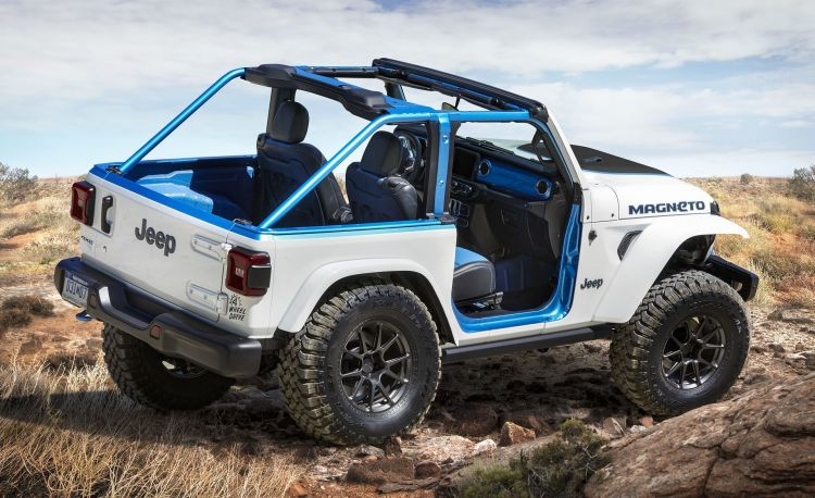 The Exterior Of The Jeep® Magneto Bev Concept Features A Bright