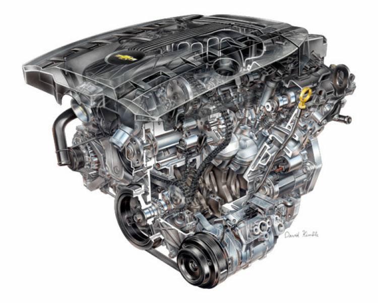 Motor K2012 LFX V6 3.6 VVT DI