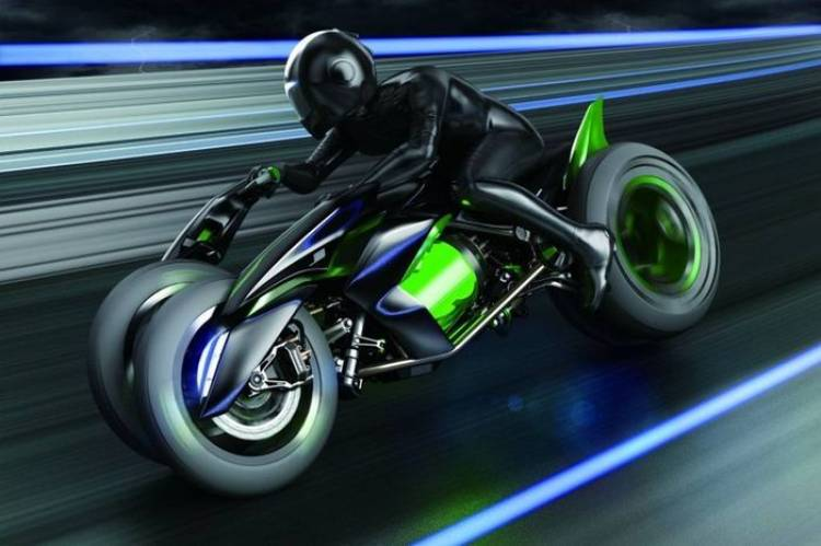 Kawasaki J Concept, la moto del futuro es una transformista