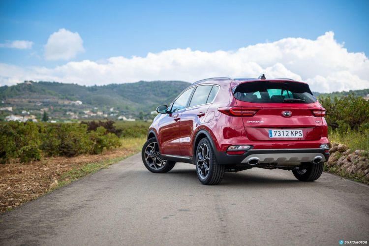 Kia Sportage Diesel Etiqueta Eco Abril 2020 Trasera Rojo