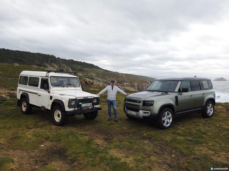 Land Rover Defender Antiguo Nuevo