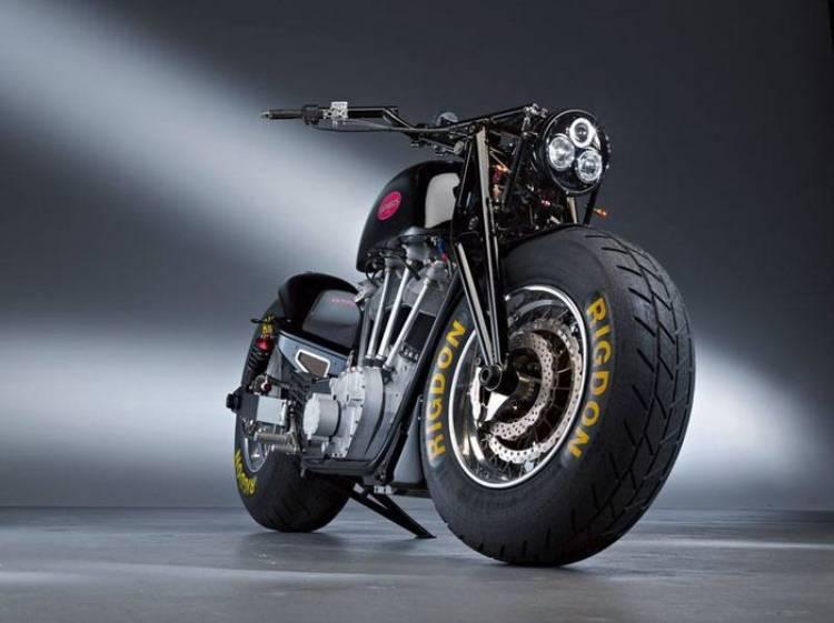 Leonhardt Gunbus 410, la moto de producción más grande y monstruosa