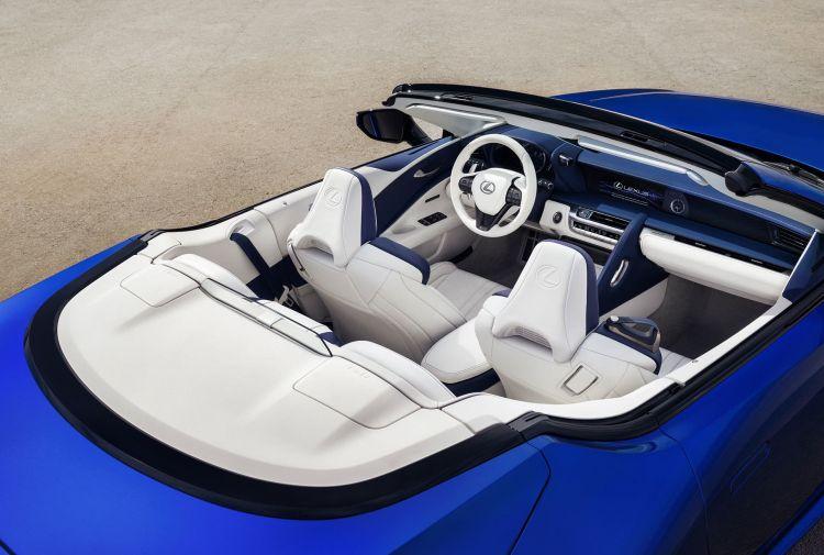 Lexus Lc Convertible Azul Interior