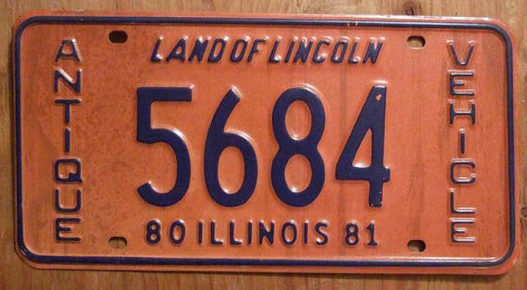 License plate Illinois
