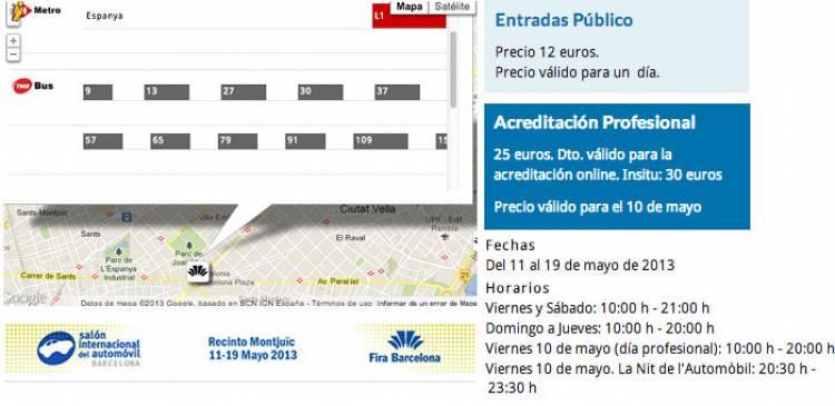 Salón de Barcelona 2013: 10 días de motor en la ciudad condal