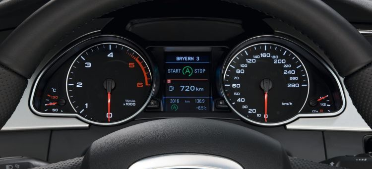 Start Stop System Display In The Audi A5