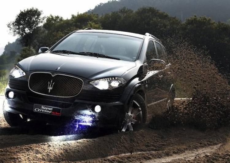 Recreación del SUV de Maserati