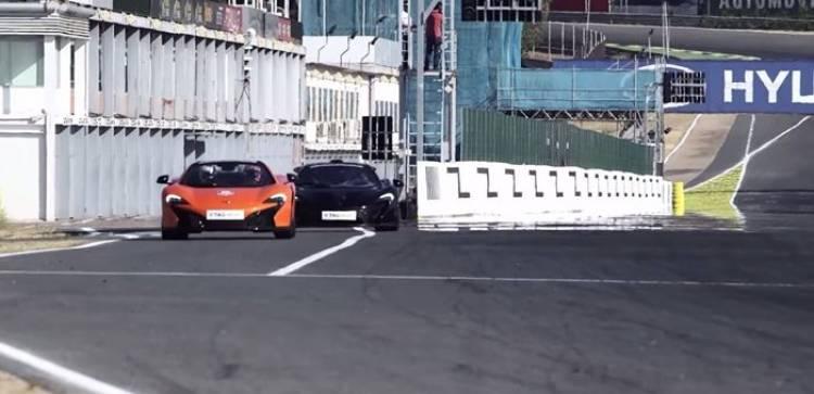 Cristiano Ronaldo se pone las botas en el Jarama con el McLaren P1