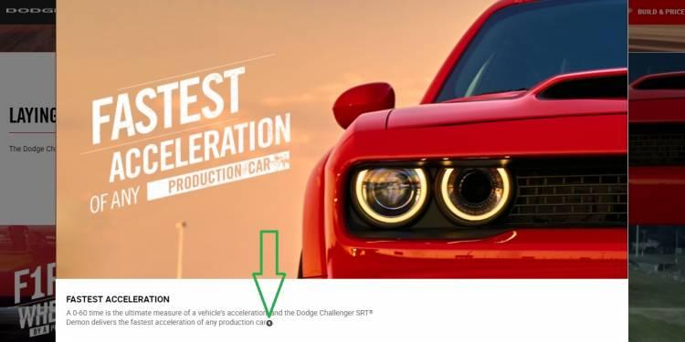 Mensaje Legal Dodge Challenger Srt Demon 2
