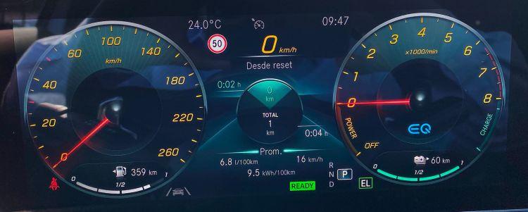 Mercedes A 250 E Sedan Prueba Consumos Instrumentacion
