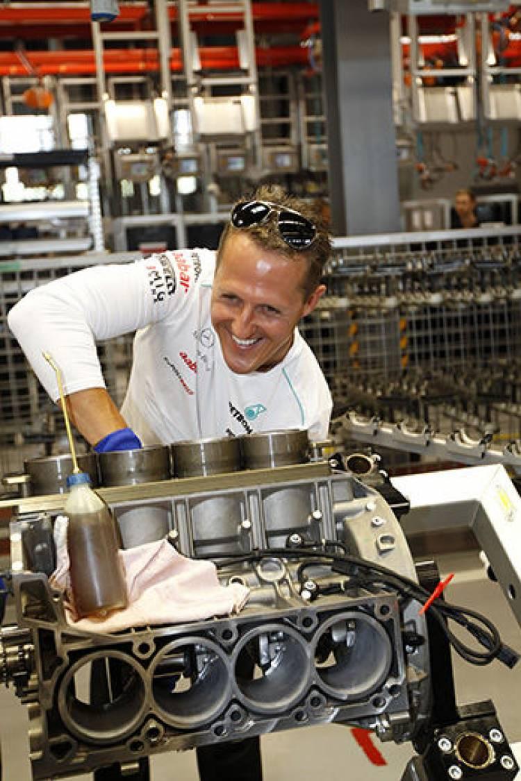Mercedes AMG Schumacher y Rosberg