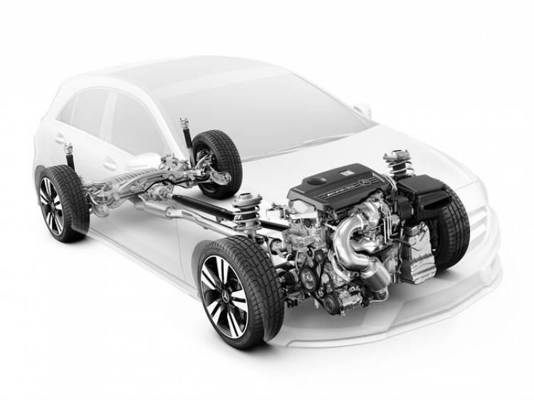 Este es el motor del Mercedes A45 AMG y así es su tracción 4Matic