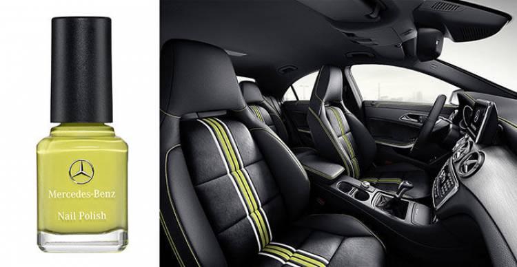Mercedes CLA, esmalte de uñas Edition1 en amarillo