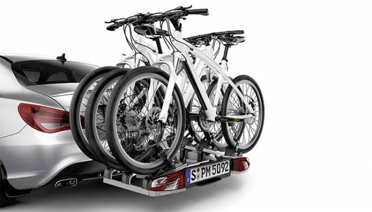 Mercedes CLA con el portabicicletas
