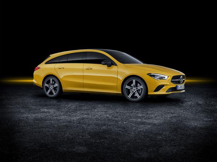 Mercedes Cla Shooting Brake 2019 Amarillo Exterior 01