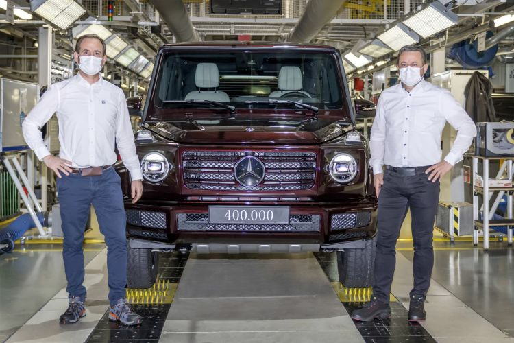 Mercedes Benz G Klasse: 400.000 Exemplare: Produktionsrekord Für Die G Klasse Mercedes Benz G Class: Production Anniversary: The 400,000th Iteration Of This Classic Off Road Vehicle Has Now Been Built