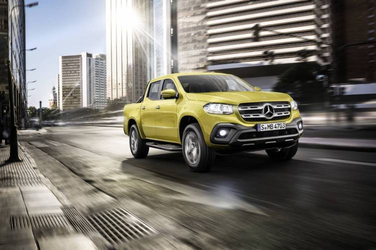 Mercedes-Benz X-Klasse – Exterieur, Limonitgelb metallic, Auss