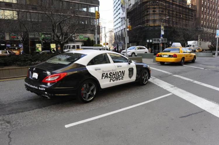Mercedes CLS 63 AMG Fashion Week NYC