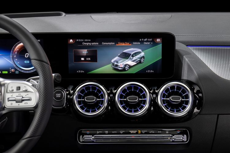Mercedes Eqa 250 2021 Interior Mbux Pantalla 11