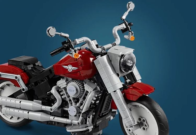 Moto Lego Harley Davidson Fatboy2