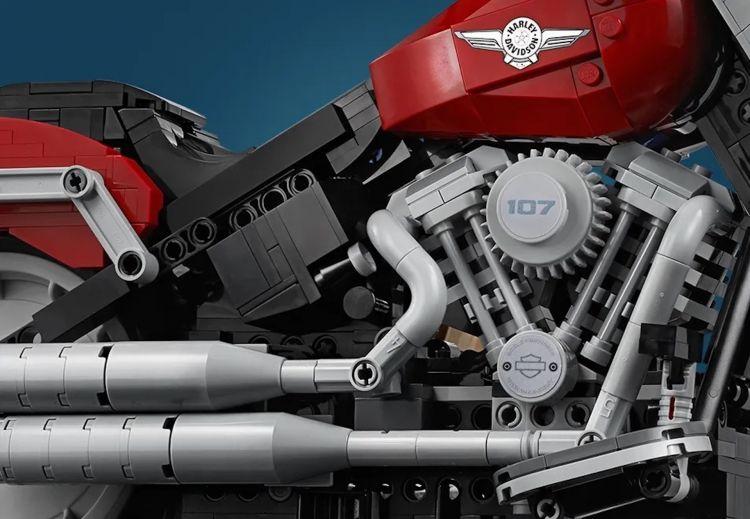 Moto Lego Harley Davidson Fatboy5