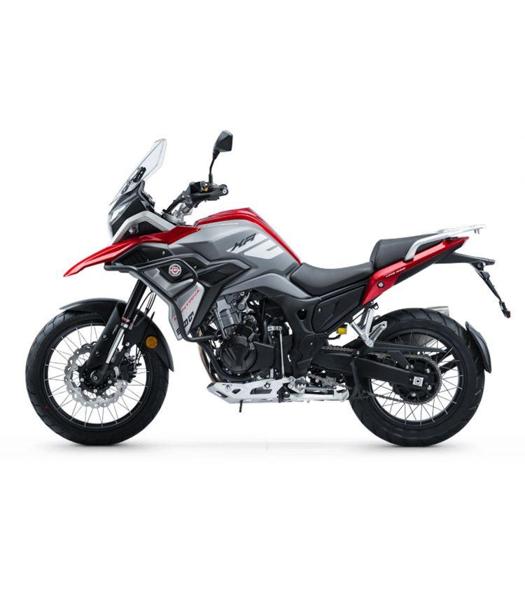 Moto Macbor Novedad 2020 Montana Xr5 500 Color Rojo Perfil Izquierdo