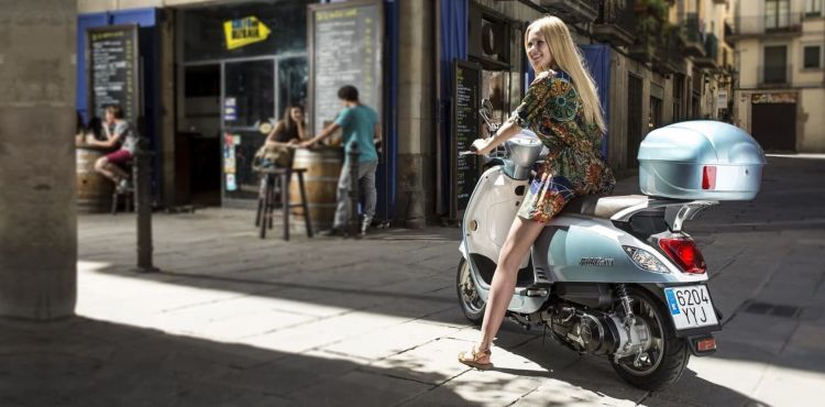 Moto Sym Fiddle Chica