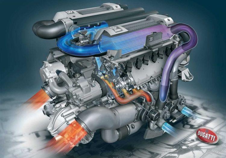 Motor W Bugatti Veyron W16 1220 01