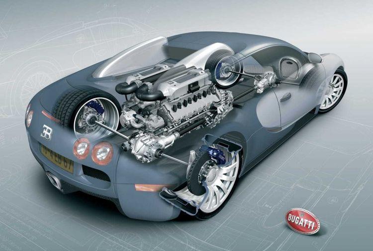 Motor W Bugatti Veyron W16 1220 02