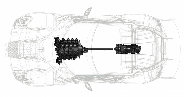New Ginetta Supercar Graphic Showing Mid Mid Engine Layout
