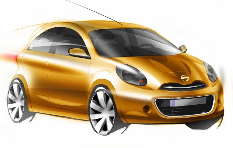 "Boceto del ""coche global compacto"" de Nissan"